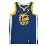 Adult Golden State Stephen Curry Nike Blue Swingman Icon Jersey - Sponsor Patch