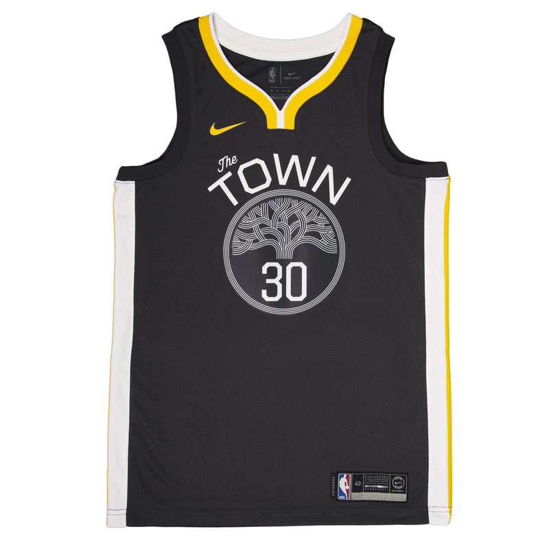Adult Golden State Stephen Curry Nike Black Swingman Statement Jersey