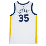 Youth Golden State Kevin Durant Nike White Swingman Association Jersey