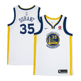 Adult Golden State Kevin Durant Nike White Swingman Association Jersey - Sponsor Patch