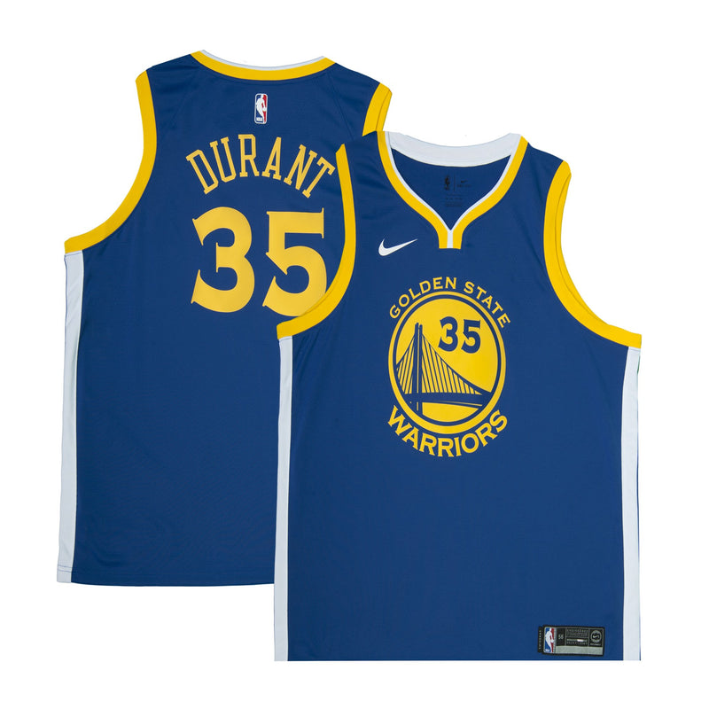 Adult Golden State Kevin Durant Nike Blue Swingman Icon Jersey