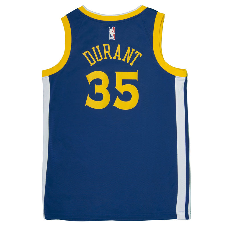 Adult Golden State Kevin Durant Nike Blue Swingman Icon Jersey - Sponsor Patch