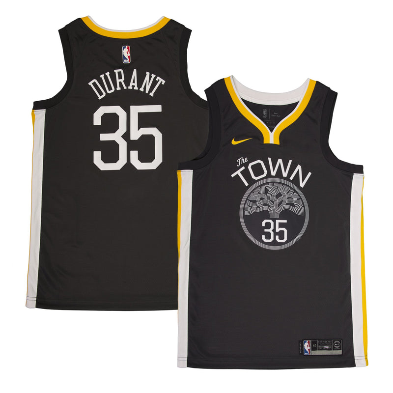 Adult Golden State Kevin Durant Nike Black Swingman Statement Jersey