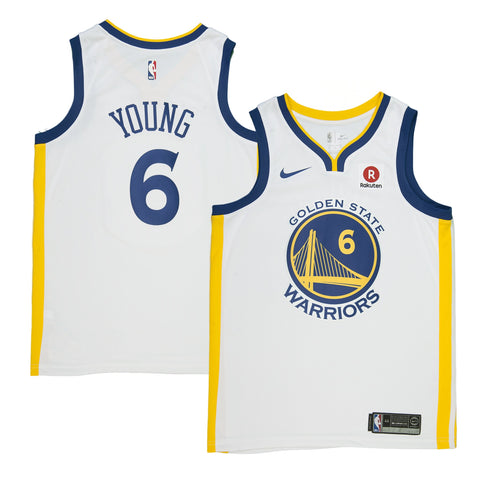 Adult Golden State Nick Young Nike White Swingman Association Jersey - Sponsor Patch