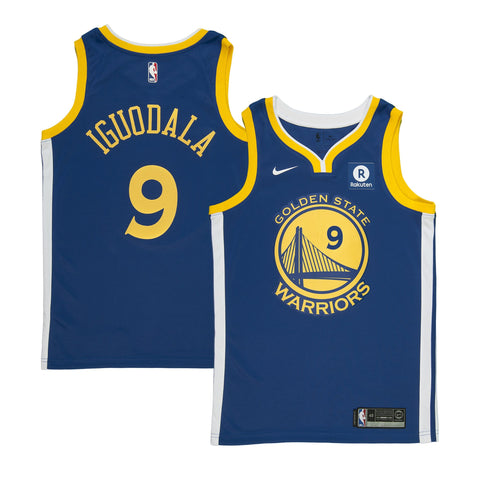 Youth Golden State Andre Iguodala Nike Blue Swingman Icon Jersey - Sponsor Patch