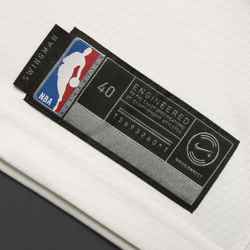 Youth Golden State Klay Thompson Nike White Swingman Fashion Jersey - Sponsor Patch