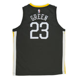 Youth Golden State Draymond Green Nike Black Swingman Statement Jersey - Sponsor Patch