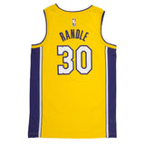 Adult Los Angeles Julius Randle Nike Yellow Swingman Icon Jersey - Sponsor Patch