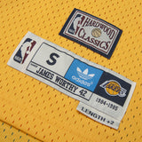 Adult Los Angeles James Worthy Adidas Gold Hardwood Classics Jersey