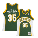 Adult Seattle Kevin Durant Mitchell and Ness Green Hardwood Classics Jersey