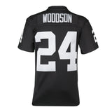 Adult Oakland Charles Woodson Mitchell and Ness Black Retired Player Vintage Jersey