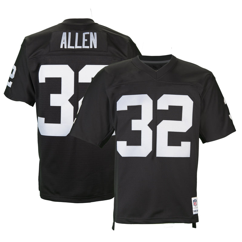 Adult Oakland Marcus Allen Mitchell and Ness Black Retired Player Vintage Jersey
