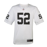 Adult Oakland Khalil Mack Nike White Game Jersey