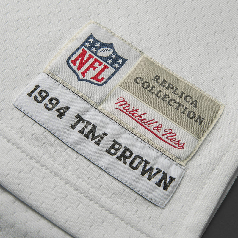 Adult Oakland Tim Brown Mitchell and Ness White Retired Player Vintage Jersey