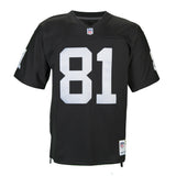 Adult Oakland Tim Brown Mitchell and Ness Black Retired Player Vintage Jersey