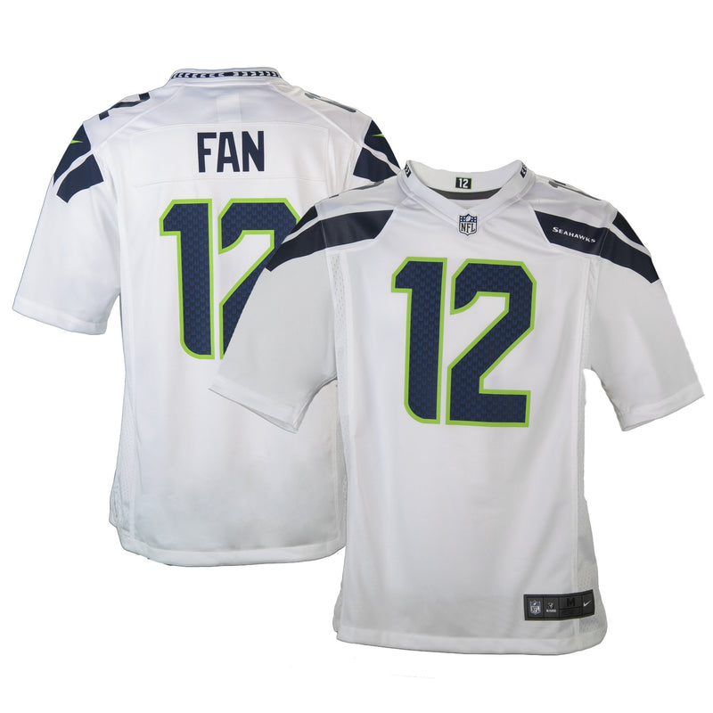 Youth Seattle #12 Fan Nike White Game Jersey