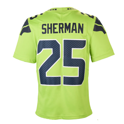 a8f40ca9b5e ... Adult Seattle Richard Sherman Nike Action Green Color Rush Limited  Jersey ...