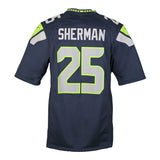 Youth Seattle Richard Sherman Nike College Navy Blue Game Jersey