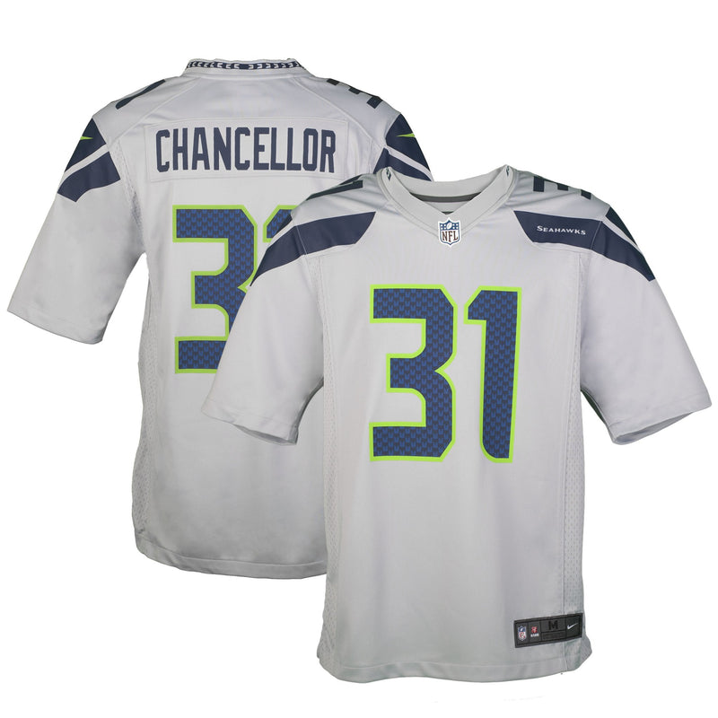 Adult Seattle Kam Chancellor Nike Grey Game Jersey