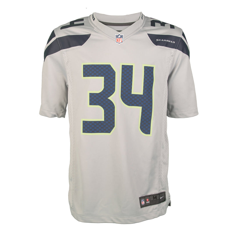 Youth Seattle Thomas Rawls Nike Grey Game Jersey