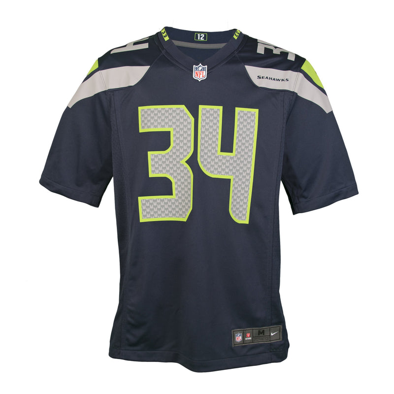 Youth Seattle Thomas Rawls Nike College Navy Blue Game Jersey