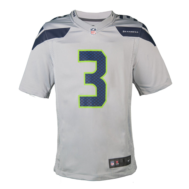 Adult Seattle Russell Wilson Nike Grey Game Jersey