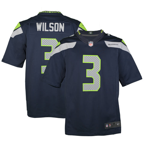 Adult Seattle Russell Wilson Nike College Navy Game Jersey