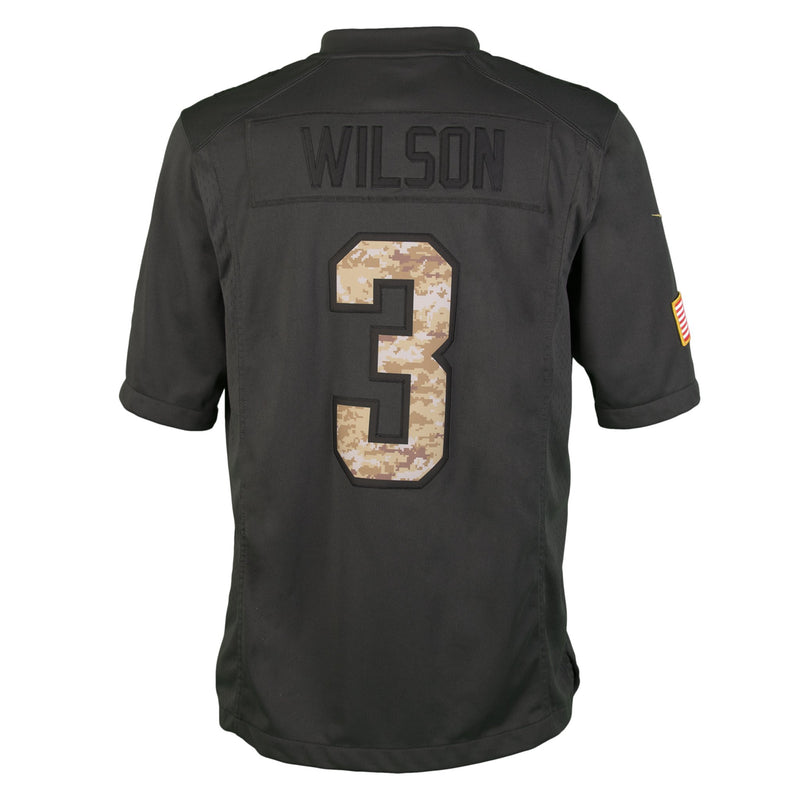 Youth Seattle Russell Wilson Nike Black 2016 Salute To Service Jersey