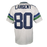 Adult Seattle Steve Largent Mitchell and Ness White Retired Player Vintage Jersey