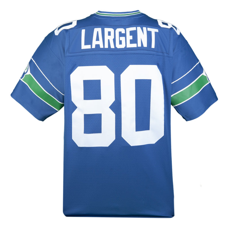 Adult Seattle Steve Largent Mitchell and Ness Royal Blue Retired Player Vintage Jersey