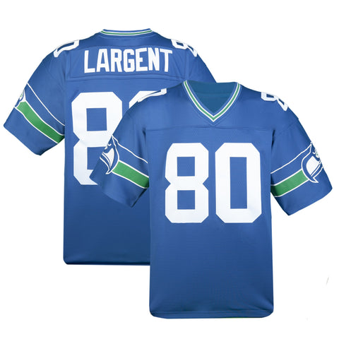 c358d1eee ... Adult Seattle Steve Largent Mitchell and Ness Royal Blue Retired Player Vintage  Jersey Seattle Seahawks Fan ...