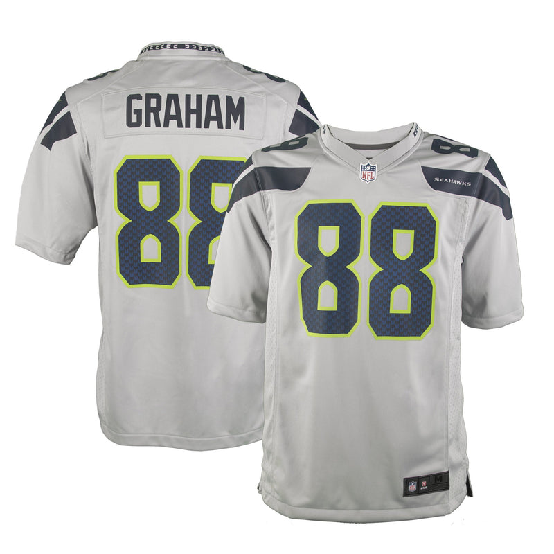 Youth Seattle Jimmy Graham Nike Grey Game Jersey