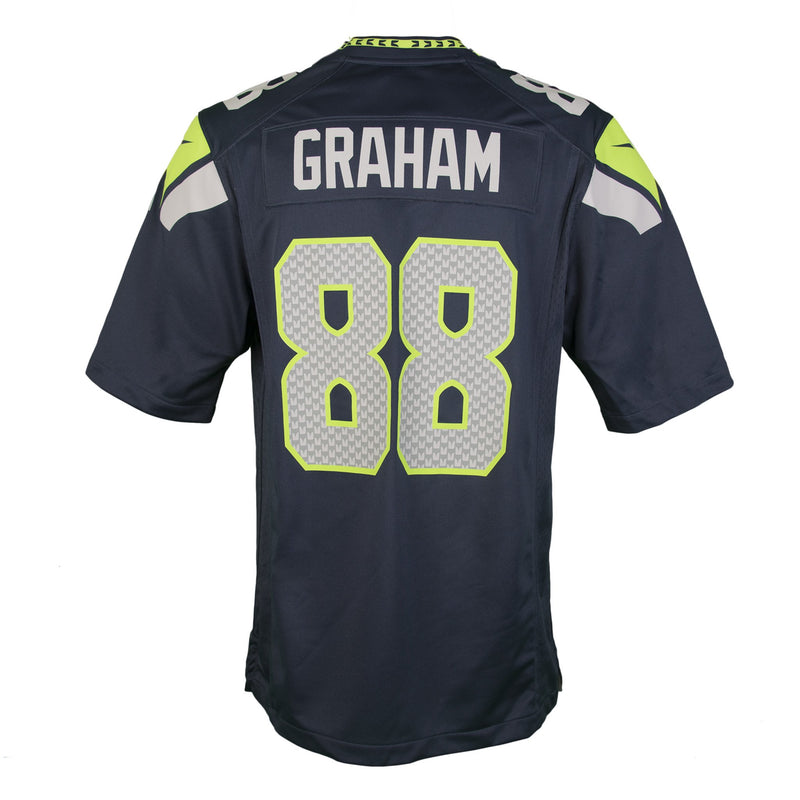 Adult Seattle Jimmy Graham Nike College Navy Game Jersey