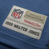 Adult Seattle Walter Jones Mitchell and Ness Royal Blue Retired Player Vintage Jersey