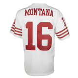 Adult San Francisco Joe Montana Mitchell and Ness White Retired Player Vintage Jersey