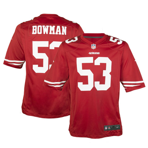 Youth San Francisco NaVorro Bowman Nike Scarlet Red Game Jersey