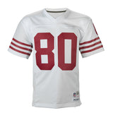 Adult San Francisco Jerry Rice Mitchell and Ness White Retired Player Vintage Jersey