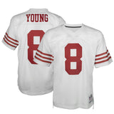 Adult San Francisco Steve Young Mitchell and Ness White Retired Player Vintage Jersey