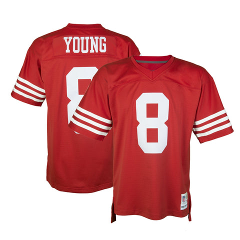 reputable site ee75c 4d373 cheap steve young 1990 san francisco 49ers 8 throwback ...