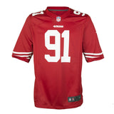 Adult San Francisco Arik Armstead Nike Scarlet Red Game Jersey