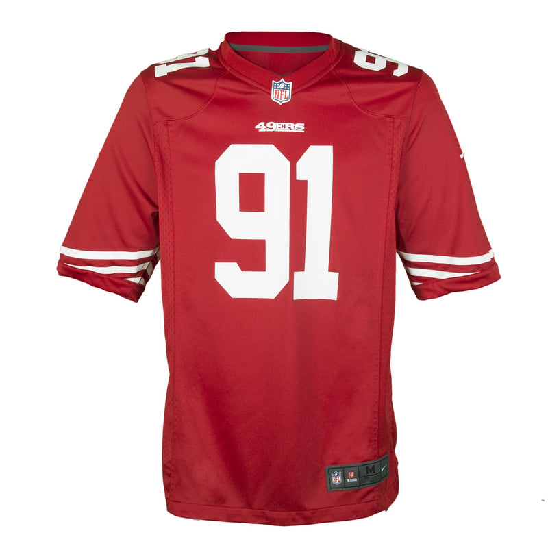 Youth San Francisco Arik Armstead Nike Scarlet Red Game Jersey