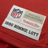Adult San Francisco Ronnie Lott Mitchell and Ness Scarlet Red Retired Player Vintage Jersey