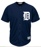 "Adult Detroit Tigers Navy 2015 Olde English ""D"" Cool Base Jersey"