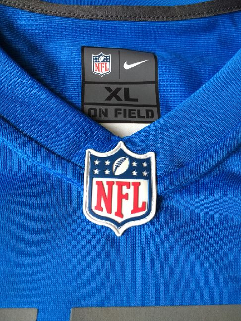 Authentic Autographed Adult Detroit Golden Tate Nike Honolulu Blue Game Jersey