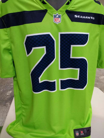Adult Seattle Richard Sherman Nike Action Green Color Rush Legend Jersey