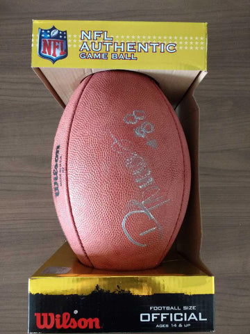 "Denver Broncos Demaryius Thomas Authentic Autographed Wilson ""The Duke"" Game Football"