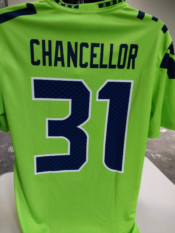 57be9e90bb1 ... discount code for adult seattle kam chancellor nike action green color  rush legend jersey 0b498 3165a