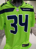 Adult Seattle Thomas Rawls Nike Action Green Color Rush Legend Jersey