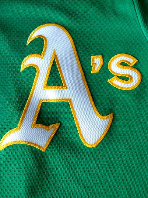 Adult Oakland A's Reggie Jackson Majestic Green Cool Base Jersey