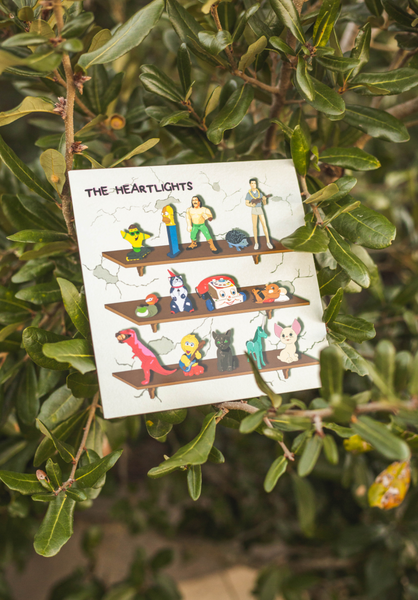 "THE HEARTLIGHTS - ""FIGURINES / JUST FOR THE PLAY"" (7"" CLEAR VINYL) - Wallflower Records"